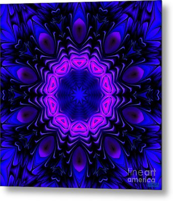 Metal Print featuring the digital art Wild Blue by Hanza Turgul