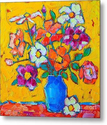 Wild Colorful Roses Metal Print by Ana Maria Edulescu