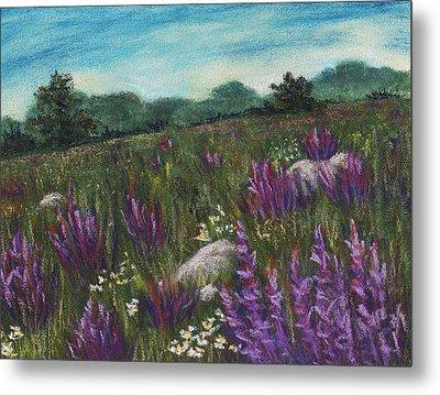 Wild Flower Field Metal Print by Anastasiya Malakhova
