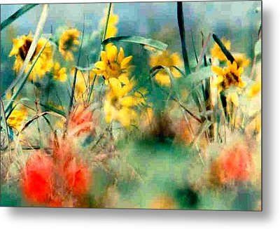 Metal Print featuring the photograph Wild Flower Floral Lower Garden District New Orleans La Usa by Michael Hoard