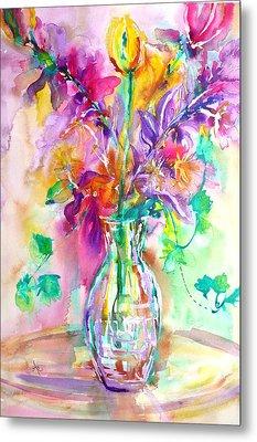Wild Flowers Metal Print by Anna Ruzsan