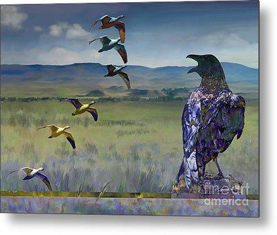 Wild Geese Metal Print by Ursula Freer