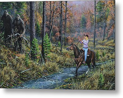 Wild Heart Encounter Metal Print