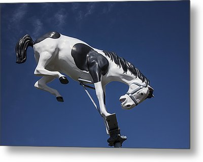 Wild Horse Statue Metal Print