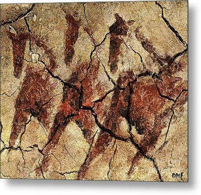Wild Horses - Cave Art Metal Print by Dragica  Micki Fortuna
