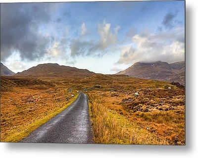 Wild Landscape Of Connemara Ireland Metal Print by Mark Tisdale