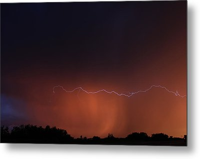 Metal Print featuring the photograph Wild Lightning by Ryan Crouse