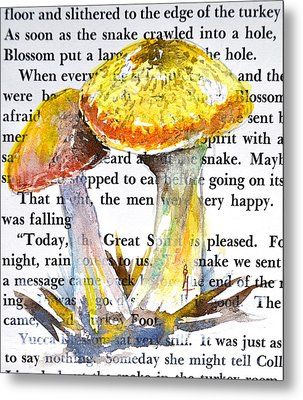 Wild Mushrooms Metal Print by Beverley Harper Tinsley