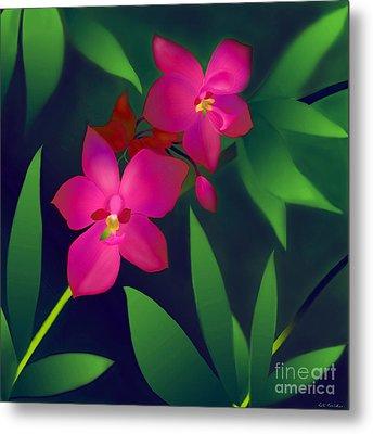 Metal Print featuring the digital art Wild Orchids by Latha Gokuldas Panicker