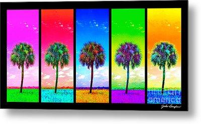Wild Palms X5 Metal Print