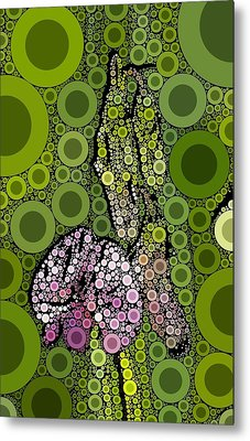 Wild Pea Abstracted Metal Print