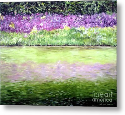 Metal Print featuring the painting Wild Phlox by Anna-maria Dickinson