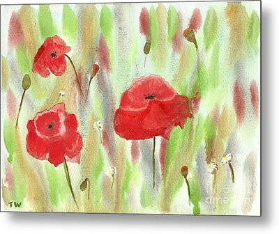 Wild Poppies Metal Print by Tracey Williams