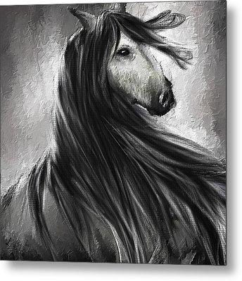 Wild Soul- Fine Art Horse Artwork Metal Print by Lourry Legarde