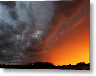 Metal Print featuring the photograph Wild Storm Clouds Over Yorkton by Ryan Crouse