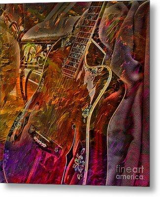 Wild Strings Digital Guitar Art By Steven Langston Metal Print