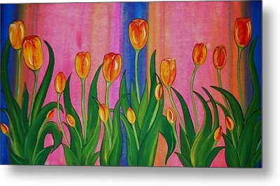 Wild Tulips Metal Print by Cindy Micklos