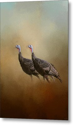 Wild Turkey At Shiloh Metal Print