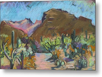 Metal Print featuring the painting Wild Tuscon by Linda Novick