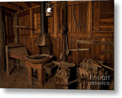Metal Print featuring the photograph Wild West Blacksmith by Keith Kapple