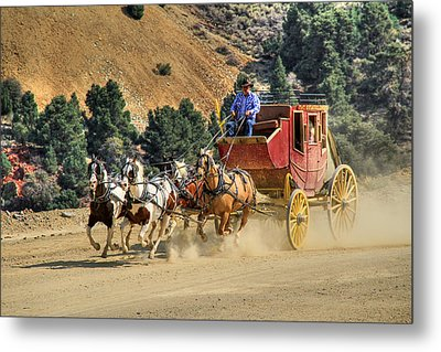 Wild West Ride 2 Metal Print by Donna Kennedy