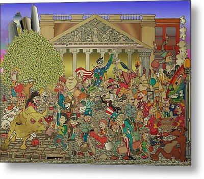 Wild Wild Wall Street Metal Print by Paul Calabrese