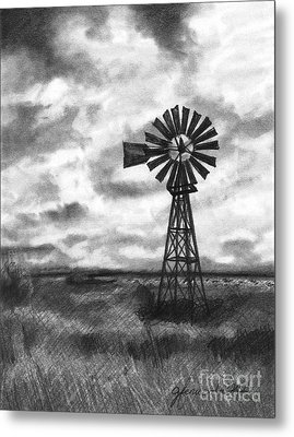 Metal Print featuring the drawing Wild Wind And Sunshine by J Ferwerda