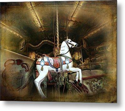 Wild Wooden Horse Metal Print by Barbara Orenya