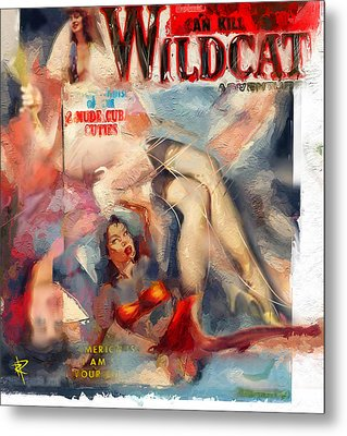 Wildcat Metal Print by Russell Pierce