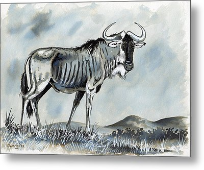 Wildebeest Metal Print by Anthony Mwangi