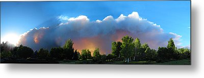 Wildfire Coming Metal Print