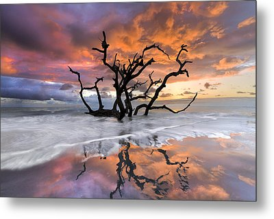 Wildfire Metal Print by Debra and Dave Vanderlaan
