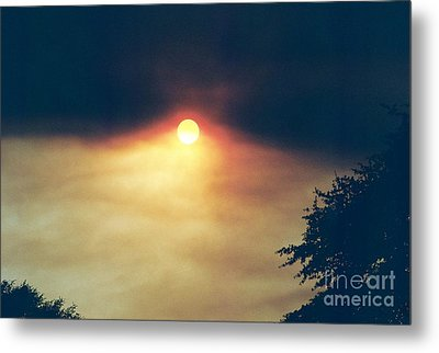Metal Print featuring the photograph Wildfire Smoky Sky by Kerri Mortenson