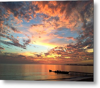 Wildfire Sunset Metal Print by Amelia Racca