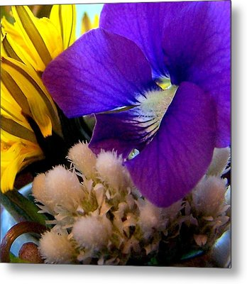 Wildflower Bouquet Metal Print