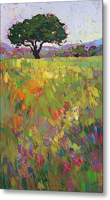Wildflower Hill Metal Print by Erin Hanson
