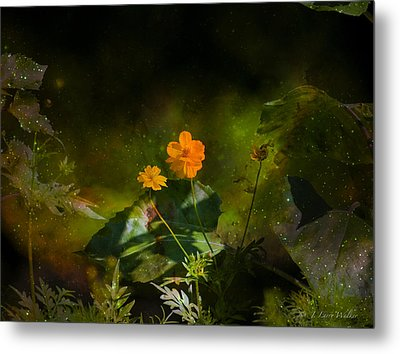 Metal Print featuring the digital art Wildflower In The Twilight Zone by J Larry Walker