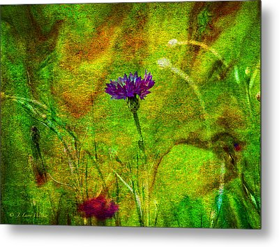 Metal Print featuring the digital art Wildflower Pettifoggery by J Larry Walker