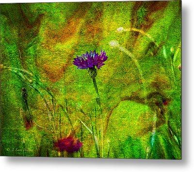 Wildflower Pettifoggery Metal Print by J Larry Walker