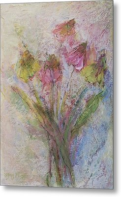 Metal Print featuring the painting Wildflowers 2 by Mary Wolf