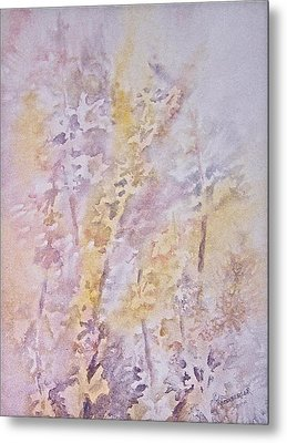 Metal Print featuring the painting Wildflowers by Carolyn Rosenberger