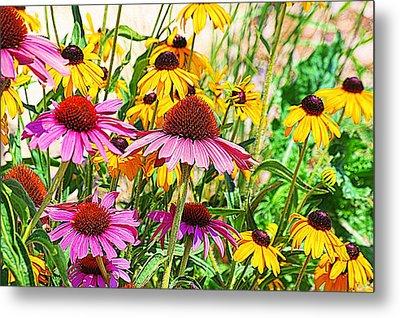 Wildflowers Metal Print by Karen McKenzie McAdoo