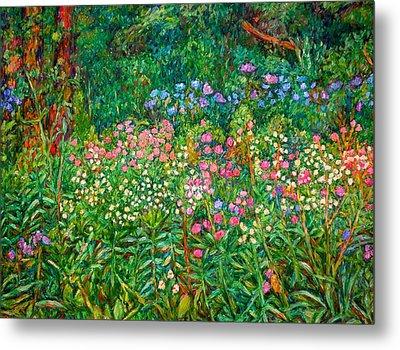 Wildflowers Near Fancy Gap Metal Print by Kendall Kessler