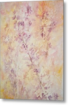Metal Print featuring the painting Wildflowers Three by Carolyn Rosenberger