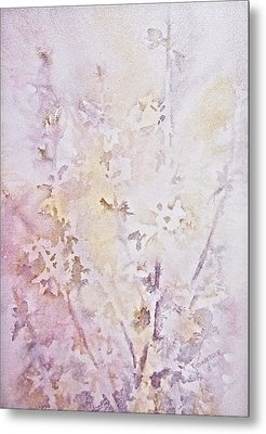 Metal Print featuring the painting Wildflowers Two by Carolyn Rosenberger
