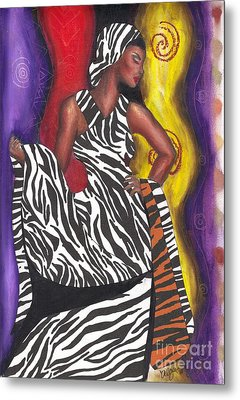Metal Print featuring the mixed media Wildly Sophisticated by Alga Washington