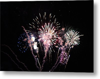 Metal Print featuring the photograph Wildwood Fireworks by Greg Graham