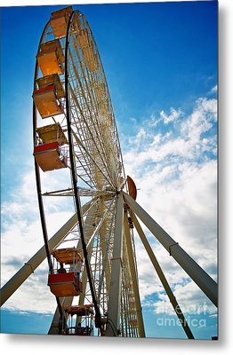 Wildwood's Wheel Metal Print by Mark Miller
