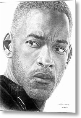 Will Smith Metal Print by Marvin Lee