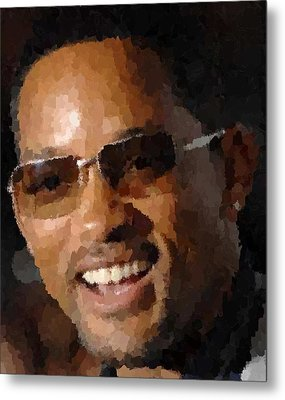 Will Smith Portrait Metal Print